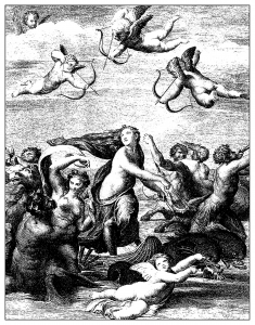 coloriage-adulte-gravure-domenico-cunego-galatee-de-raphael-1771 free to print