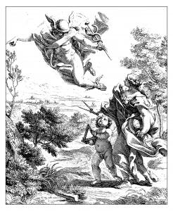 Coloriage adulte gravure giovan battista allegorie de la geographie 1692
