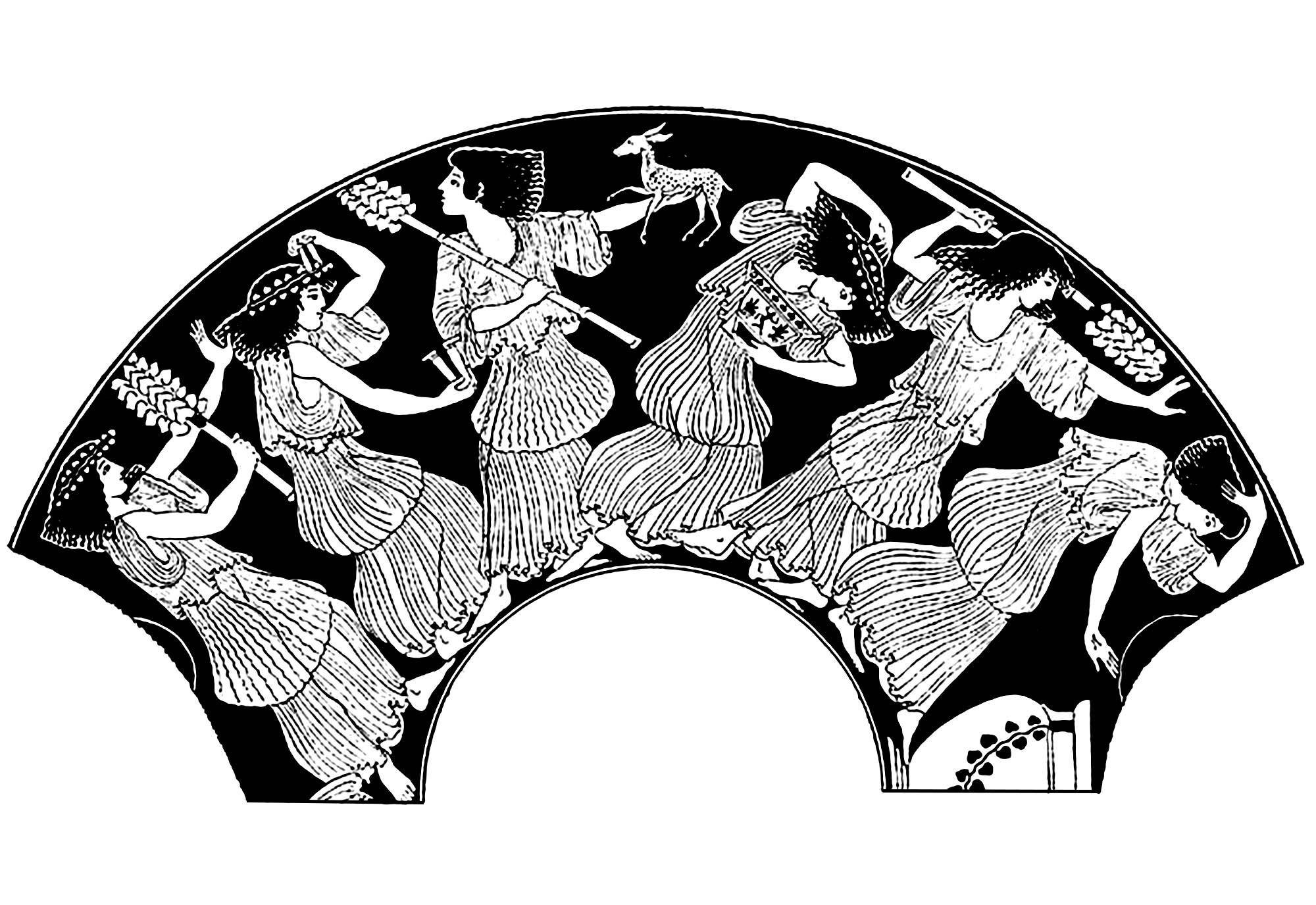 Dionysus et Maenad (created from Ancient Greek Vase Painting)