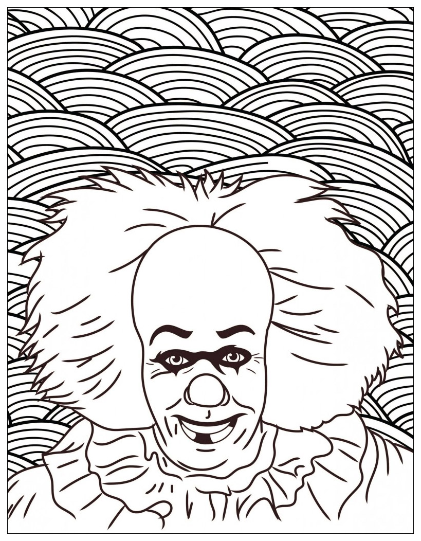 Coloriage Clown Ca.Film Horreur Ca Clown Pennywise Halloween Coloriages