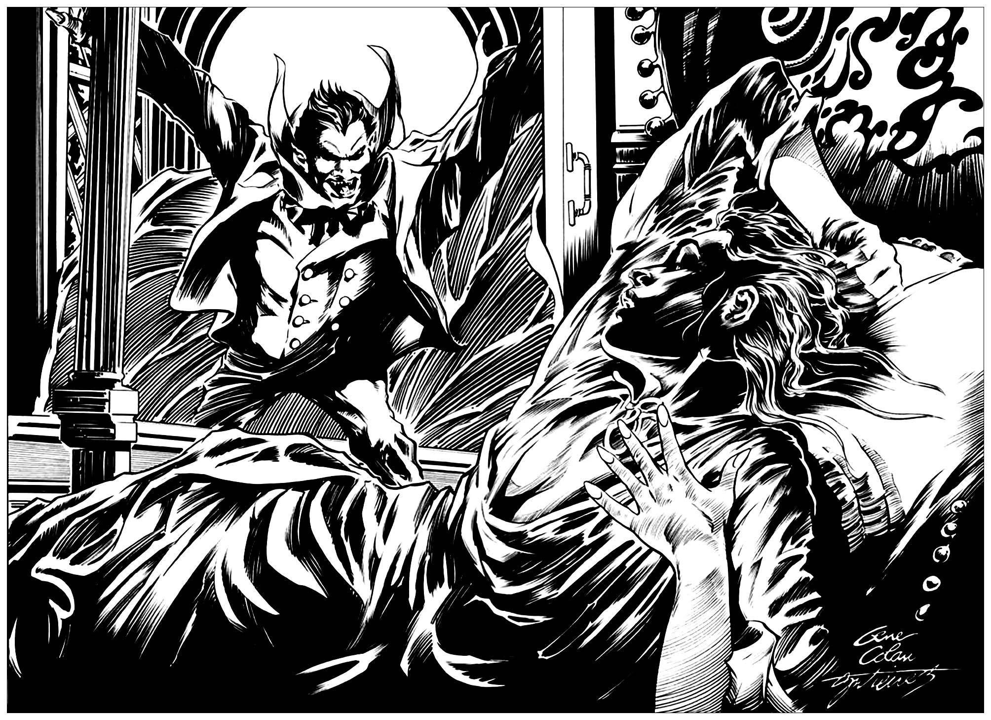 Dracula illustration