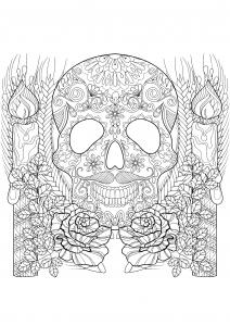 Crâne et bougies