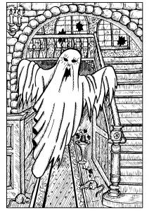 Fantôme dans une maison hantée