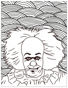 Coloriage Clown Ca.Halloween Coloriages Difficiles Pour Adultes Page 3