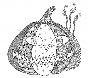 Coloriage halloween citrouille par azyrielle