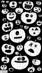 coloriage halloween citrouilles par azyrielle