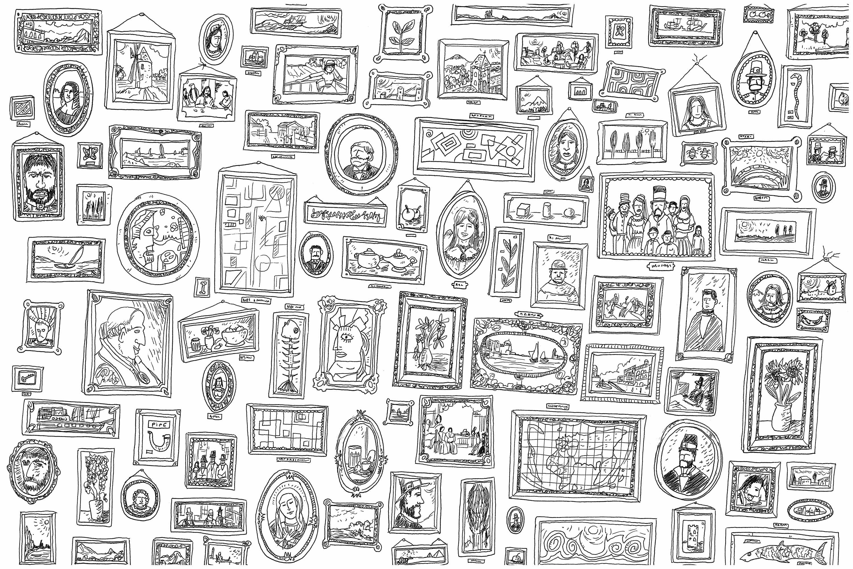 'Portraits', un coloriage au style très 'Où est Charlie ?'