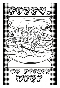 coloriage-adulte-burger-pop-par-allan free to print