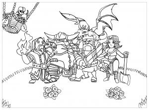 coloriage clash of clans pauline