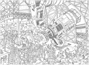 coloriage-adulte-complexe-telescope free to print