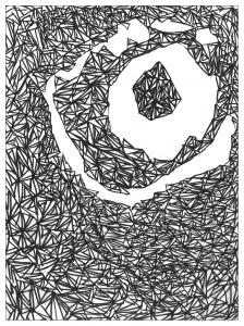 Coloriage adulte dessin L'oeil par valentin
