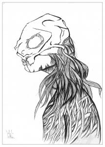 coloriage-adulte-dessin-Manga-demon-par-valentin free to print