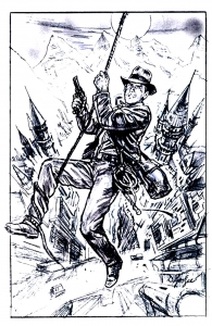 Coloriage indiana_jones_crusade ebauche affiche