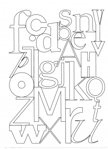 coloriage-lettres free to print