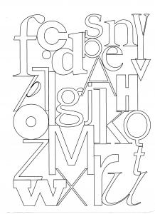 Coloriage lettres
