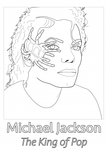 Inclassables coloriages difficiles pour adultes - Coloriage michael jackson ...