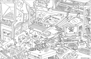 Coloriage retro gaming