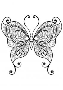 Coloriage papillon jolis motifs 10