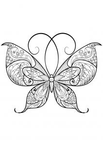 coloriage papillon jolis motifs 13