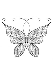 coloriage papillon jolis motifs 14