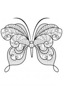 Coloriage papillon jolis motifs 15