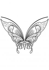 Coloriage papillon jolis motifs 7