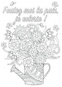 Gros mots à colorier : Foutez moi la paix, je colorie !
