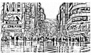 coloriage-difficile-tokyo free to print