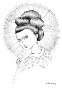 Portrait d'une jolie Geisha