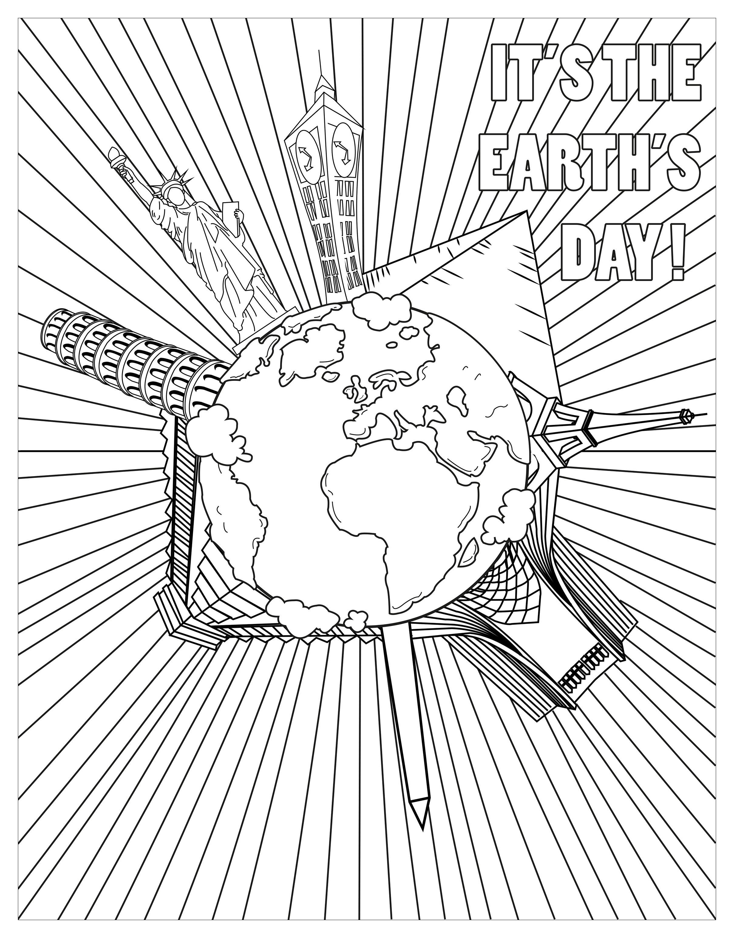 Coloriage pour le jour de la Terre