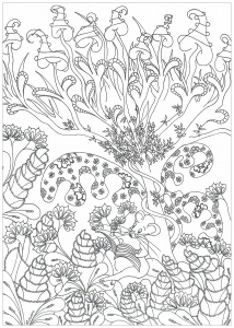 Coloriage Mandala Foret.Jungle Et Foret Coloriages Difficiles Pour Adultes