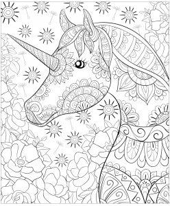 Licornes Coloriages Difficiles Pour Adultes