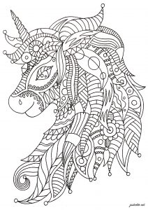 Licorne Zentangle