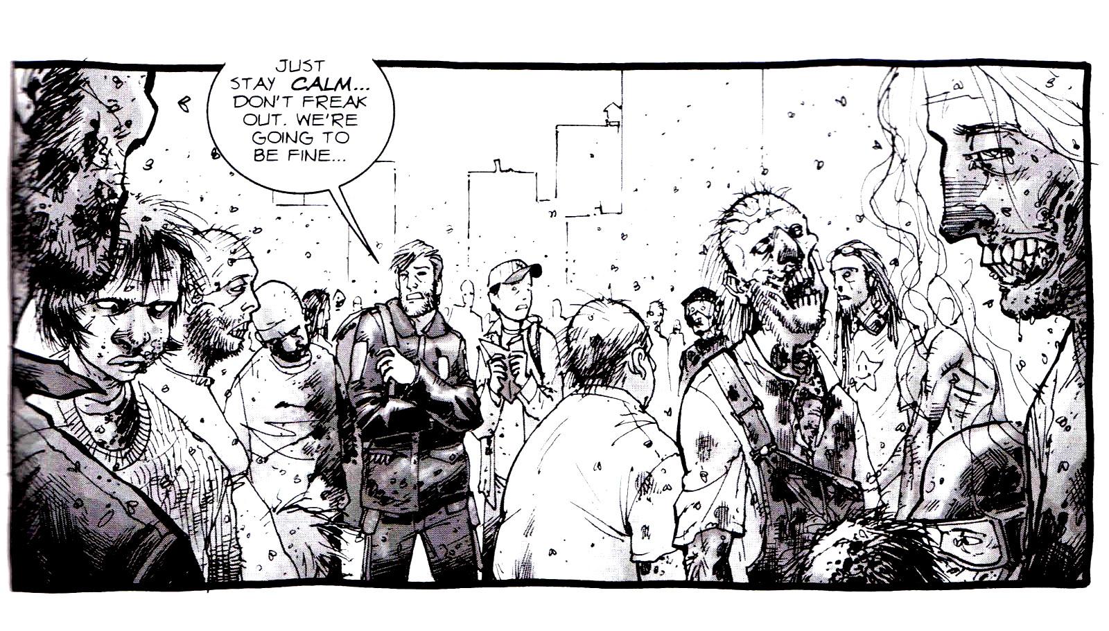 Un petit extrait du comic Walking Dead ... effrayant ...