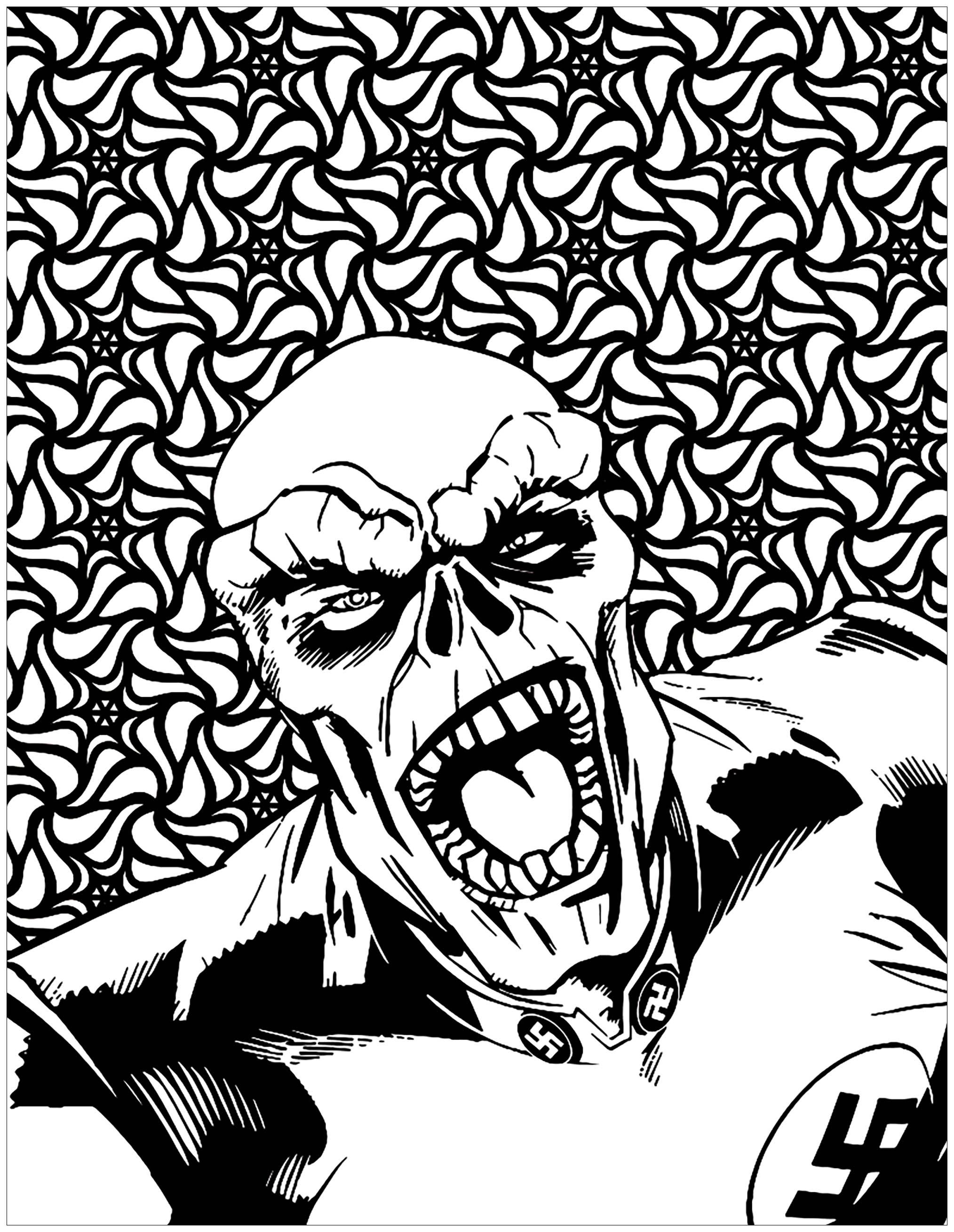 Mechants marvel red skull livres et comics coloriages difficiles pour adultes - Comics dessin ...