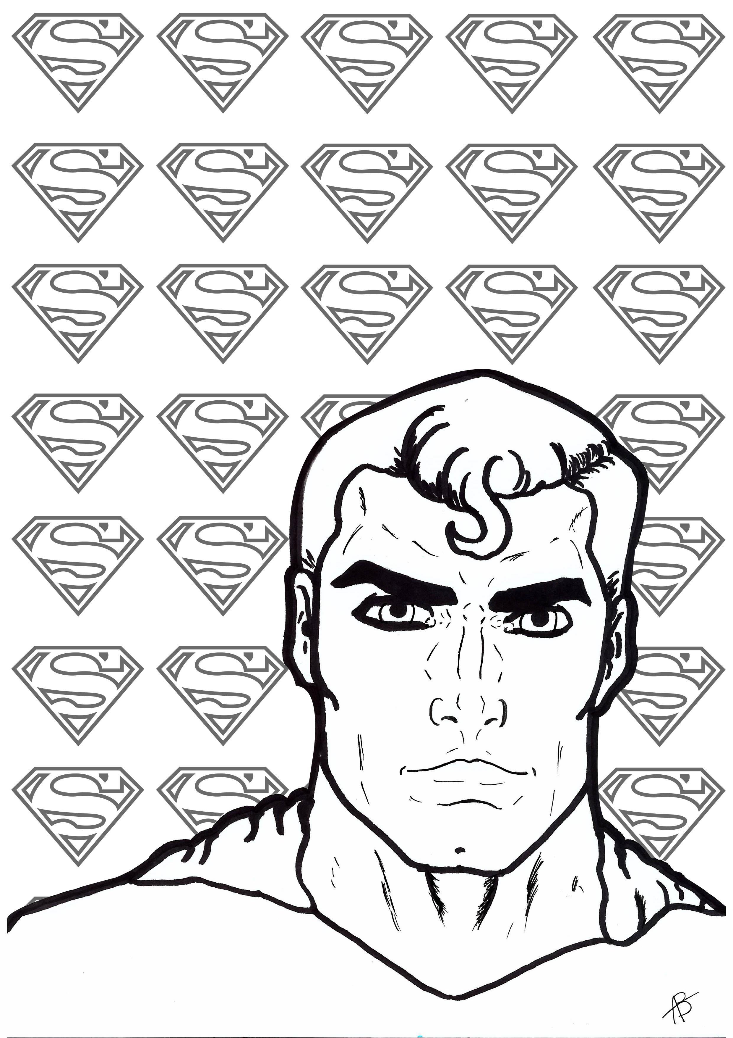 Coloriage inspiré du super-héro Superman