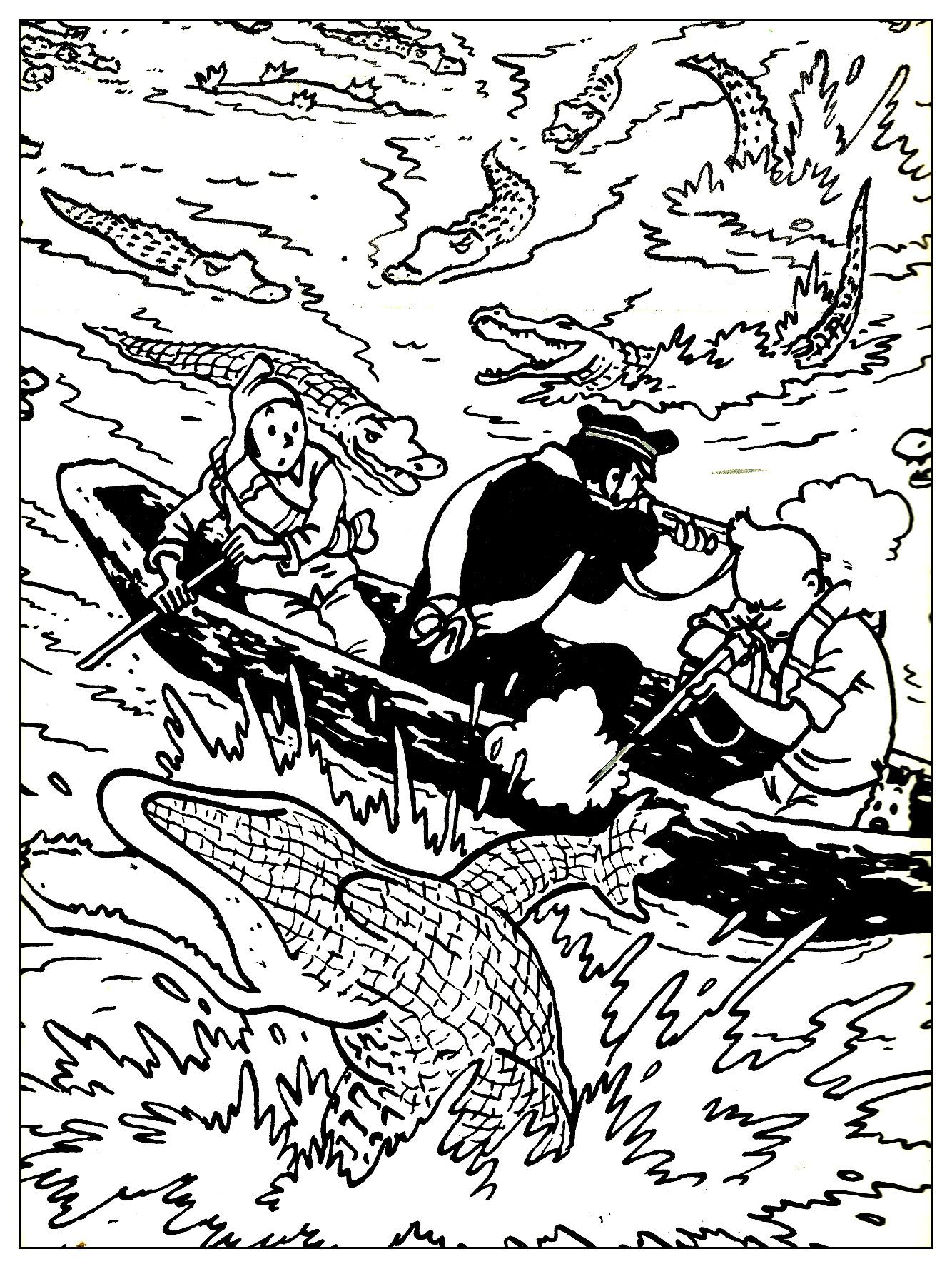 Coloriage Adulte Soleil.Tintin Le Temple Du Soleil Livres Et Comics Coloriages