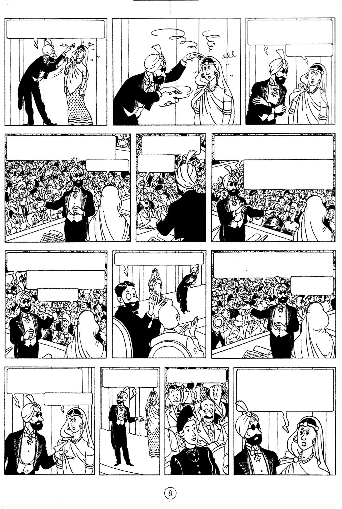 Une planche tirée de Tintin et les sept boules de cristal (1948) | A partir de la galerie : Livres Et Comics