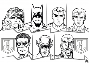Justice League coloriage