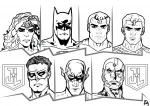 Justice League coloriage
