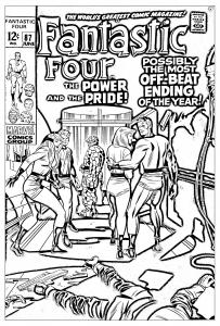 Coloriage adulte comics quatre fantastiques 1969