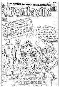 Coloriage adulte comics quatre fantastiques couverture inedite inachevee 1963