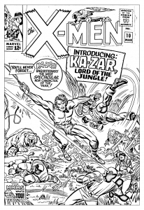 Coloriage adulte comics xmen 1965 couverture inedite