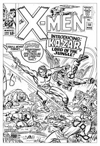 coloriage-adulte-comics-xmen-1965-couverture-inedite free to print
