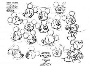 Coloriage adulte mickey mouse