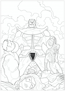 Coloriage Marvel Thanos