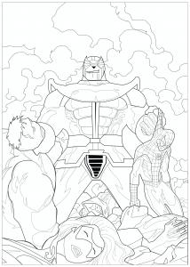 Coloriage Marvel Thanos