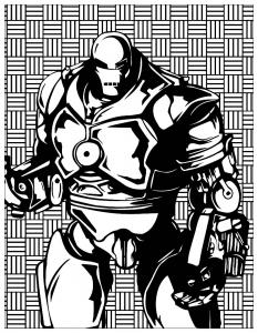 Coloriage mechants marvel Iron Monger