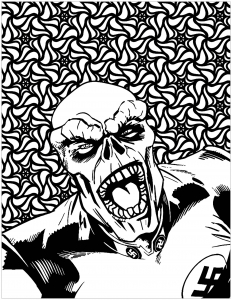 coloriage mechants marvel Red Skull