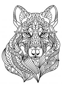Coloriage livre gratuit loup